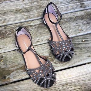 Torrid Sequin Bejeweled Peep Toe Strappy Sandal